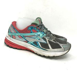 Brooks Womens Ravenna 7 Gray Pink Running Shoes 8